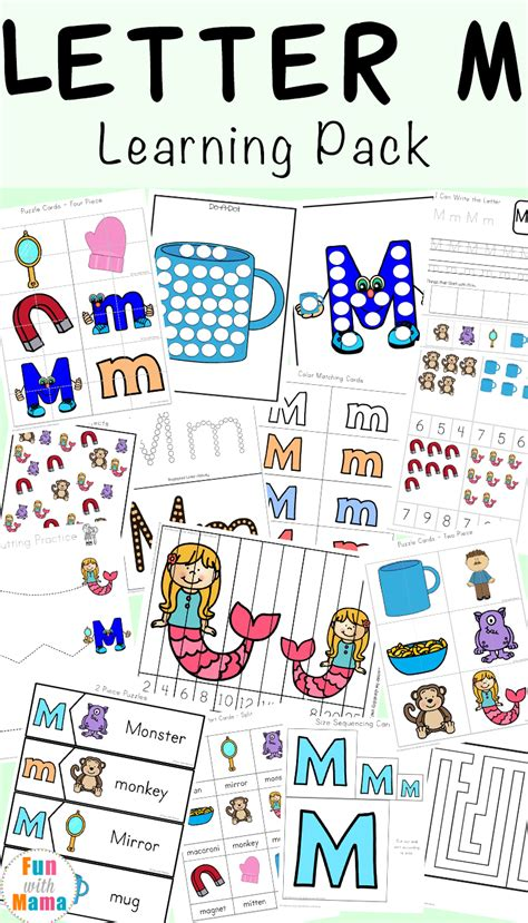 letter m worksheets with 411 | Letter M Learning Pack a