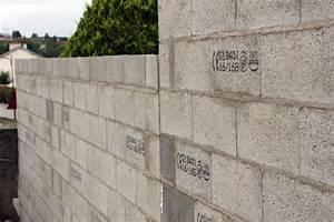 Fondation Mur Parpaing : fondation mur de cloture fondation d 39 un mur de cl ture ~ Premium-room.com Idées de Décoration