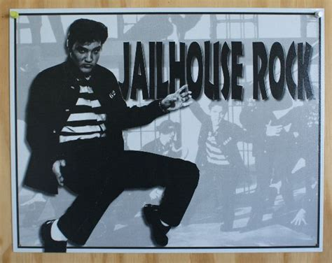 elvis presely jailhouse rock tin sign  sun records graceland rock  roll