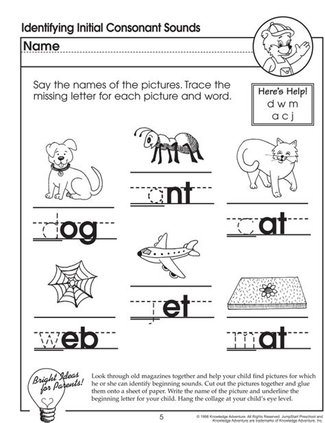 identifying initial consonant sounds missing letters