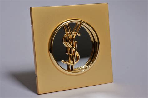 Ysl Compact Makeup Mirror Gilt, 1980`s Ca, French In