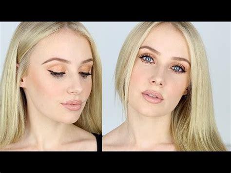 makeup tutorial  fair skin contouring nude lips bronze eyes lauren curtis youtube