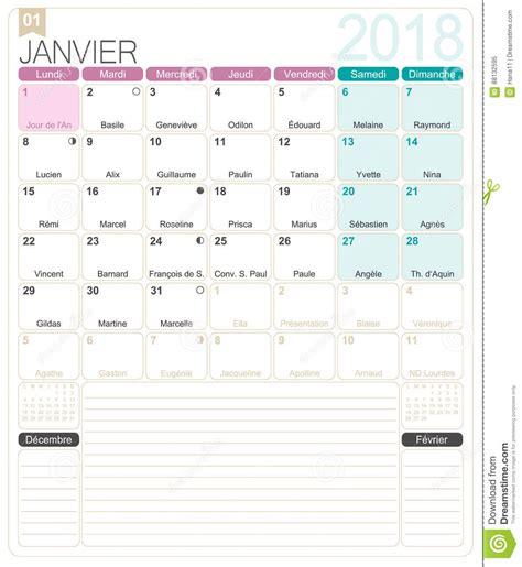 french calendar  stock vector illustration  desk