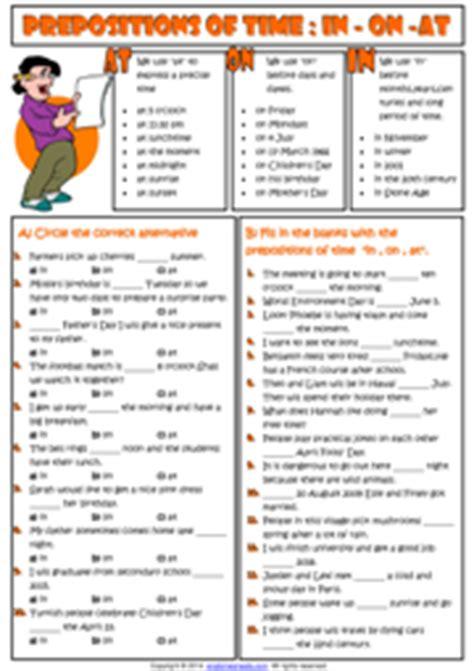 Time Worksheet New 816 Time Preposition Worksheet Esl