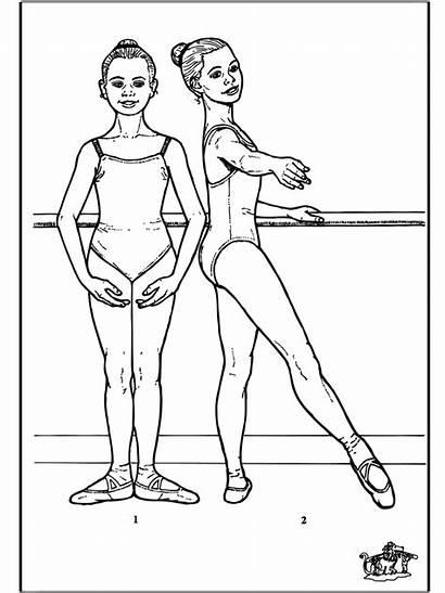 Ballet Kleurplaat Dance Ballerina Ballett Colorir Coloring