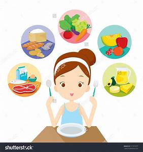 Kids Eating Healthy Food Clipart - ClipartXtras