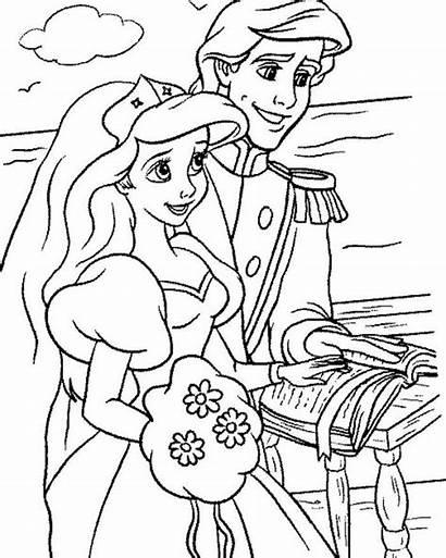 Ariel Coloring Pages Mermaid Disney Eric Princess