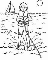 Coloring Pages Water Skiing Extreme Drawing Ski Sport Printable Getdrawings Getcolorings Print sketch template