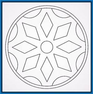 Imágenes de Mandalas Sencillas para Colorear Dibujos de Mandalas