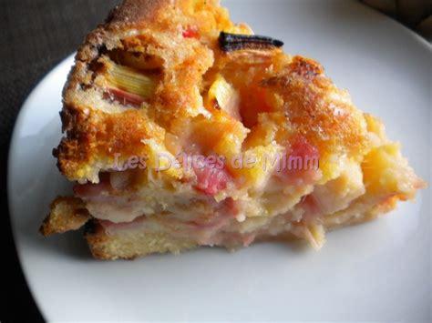 dessert avec de la rhubarbe g 226 teau 224 la rhubarbe les d 233 lices de mimm