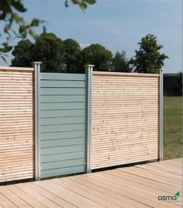 Boden Für Terrasse : sichtschutzzaun holz und glas ~ Michelbontemps.com Haus und Dekorationen