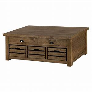 Magnussen, Stratton, Rustic, Lift, Top, Storage, Coffee, Table, With, Casters, -, Walmart, Com