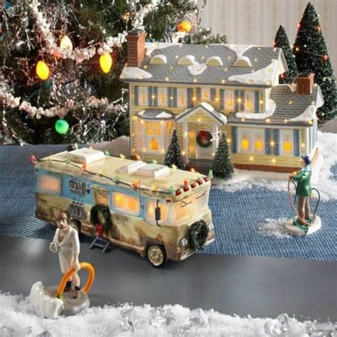 dept  snow village christmas vacation griswold housedad