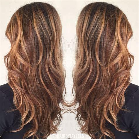 brown hair color caramel highlights caramel balayage