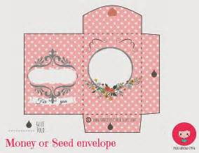 mad about pink lovely money or seed envelope free printable