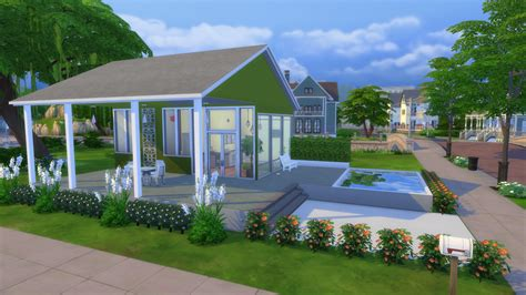 build house modern green tiny house tour the sims legacy challenge