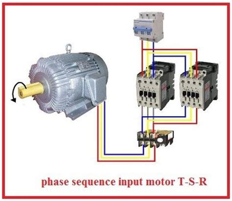 forward three phase motor wiring diagram