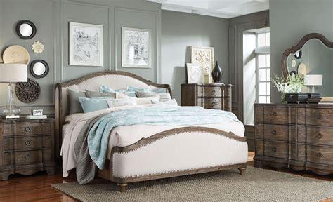 upholstered bedroom set parliament vintage dusty brown upholstered platform