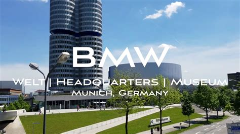 bmw welt museum headquarters munich germany youtube