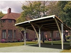 Carport Avec Abri : carport double avec arcs id571 contact france abris ~ Melissatoandfro.com Idées de Décoration