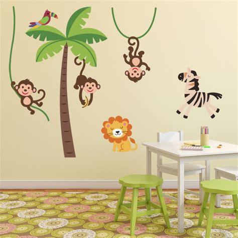 chambre bébé animaux sticker animaux de la jungle stickers chambre bébé