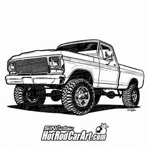 automotive illustration sin customs hot rod car art With 1978 ford ltd ii