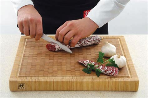 zwilling ja henckels bamboo cutting board  groove xx cutlery
