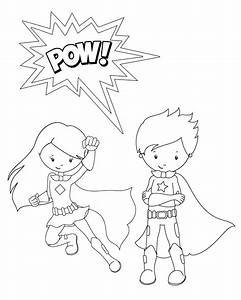Superhero, Coloring, Pages