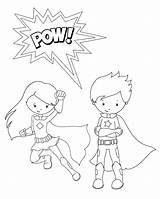 Coloring Superhero Pages Pow Crazy Little sketch template