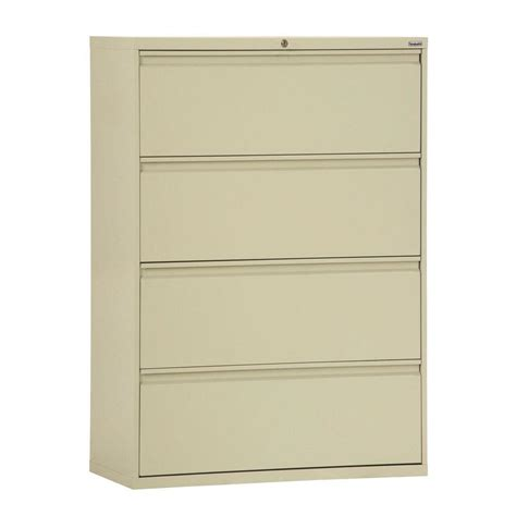 home depot file cabinets 800 series 42 in w 4 drawer full pull lateral file