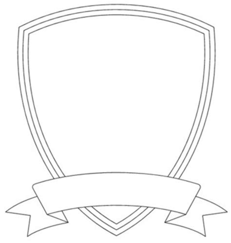 Blank Soccer Crest Templates by Shield Template Free Images At Clker Vector Clip