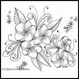 Coloring Lei Plum Artwork Books Pattern Collections Flower sketch template