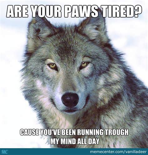Funny Wolf Memes - wolf flirting by vanilladeer meme center