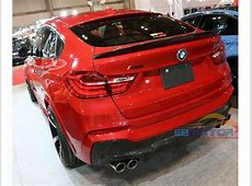 3D style Real carbon fiber rear trunk spoiler for BMW X4