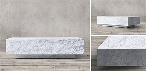 Restoration hardware plinth gray marble coffee table retail $3500 plus shipping membership $3900 retail offers welcome condition is new. Marble Plinth Collection - White Marble | RH | White marble, Plinths, Restoration hardware