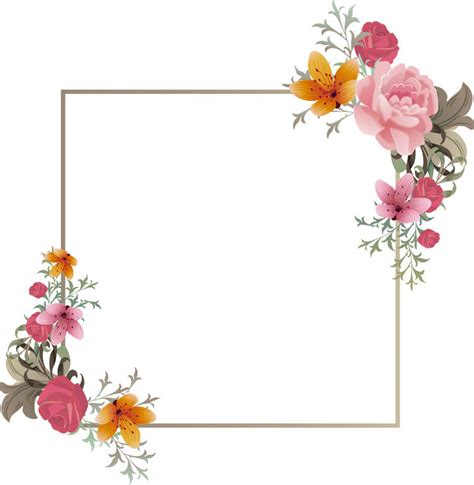 creative ideas simple background flowers frame material