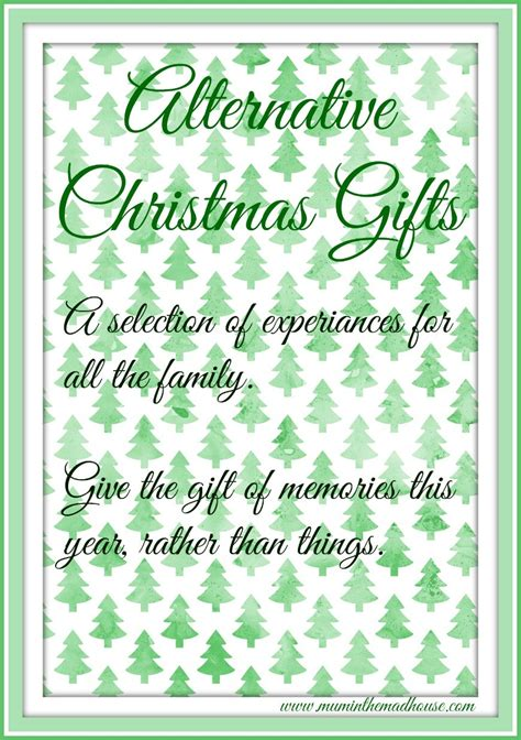 alternative christmas gifts a year of family experiences