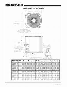 Trane Air Conditioner  Heat Pump Outside Unit  Manual L0905065