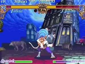 Darkstalkers Felicia Gameplay - YouTube