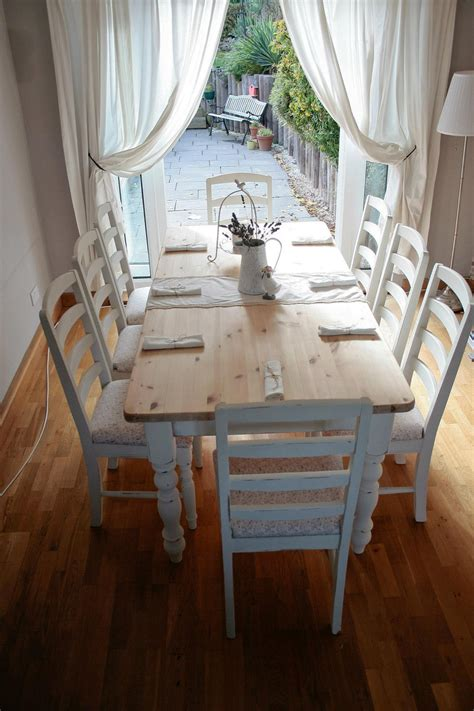 Dining Table Shabby Chic Dining Table And Chairs