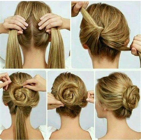 easy hairstyle  long hair step  step photo nail