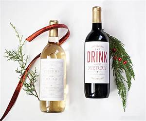 holiday wine label printable national association of With downloadable wine labels