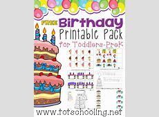 Free Birthday Printable Pack Totschooling Toddler