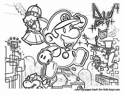 Mario Coloring Pages Super Party Bros Printable