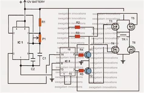 Bridge Inverter Circuit Using Channel Mosfets