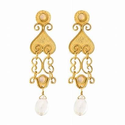 Gold Jewelry Animated Earrings Florida Beach Gifer