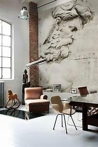 Ausgefallene Tapeten Wohnzimmer : stein tapeten erschaffen ein komfortables ambiente in ~ A.2002-acura-tl-radio.info Haus und Dekorationen
