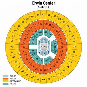 Frank Erwin Center Seating Diagram