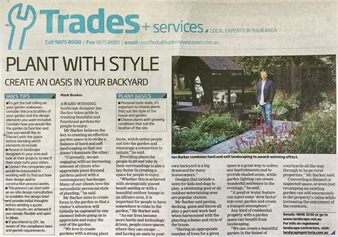 landscape design articles leader newspapers feature plant with style