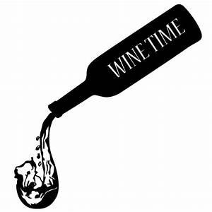Wein und Weinflasche Wandtattoo